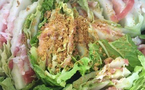 ホットクックレシピ:白菜と豚バラの重ね蒸し【ミルフィーユ】